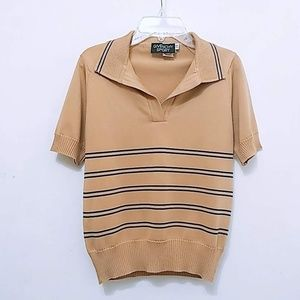 Givenchy Sport Striped Knit Shirt Top Short Sleeve